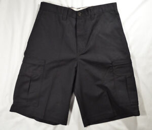 Dickies Black Cargo Work Shorts - New with Tags - Mens Size 32