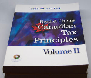 Byrd & Chen's Canadian Tax Principles - Volume 1, 2 and Study G. West Island Greater Montréal image 2
