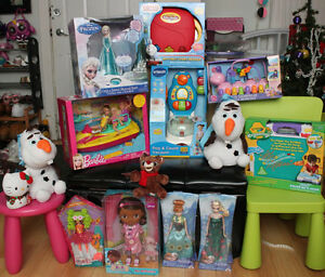 BRANDNEW Toys Frozen Fever, Crayola, Vtech, Barbie, and more