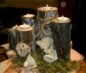Rustic Wedding Decor--wood slices, cake stands.... Kitchener / Waterloo Kitchener Area image 6