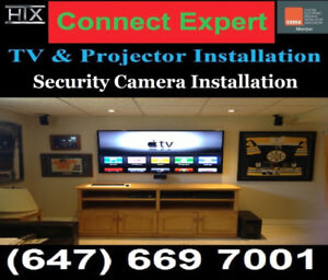 PROFESSIONAL TV WALL MOUNTING SERVICE*CONNECT EXPERT.CA*