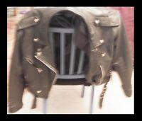 Manteau de cuir noire perfecto sceaming eagles