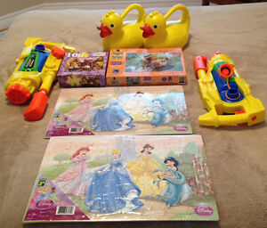 Kids Puzzles, Duck Watering Cans and Two Water Guns