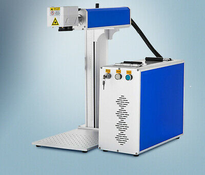 Us 100w Fiber Laser Marker Marking Engraving Machine Rotary Axis Include