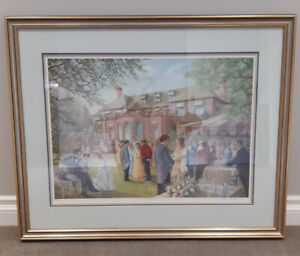 "Peter Robson "" The Garden Party"" Signed and Numbered Print."