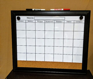 Magnetic White Board Calendar