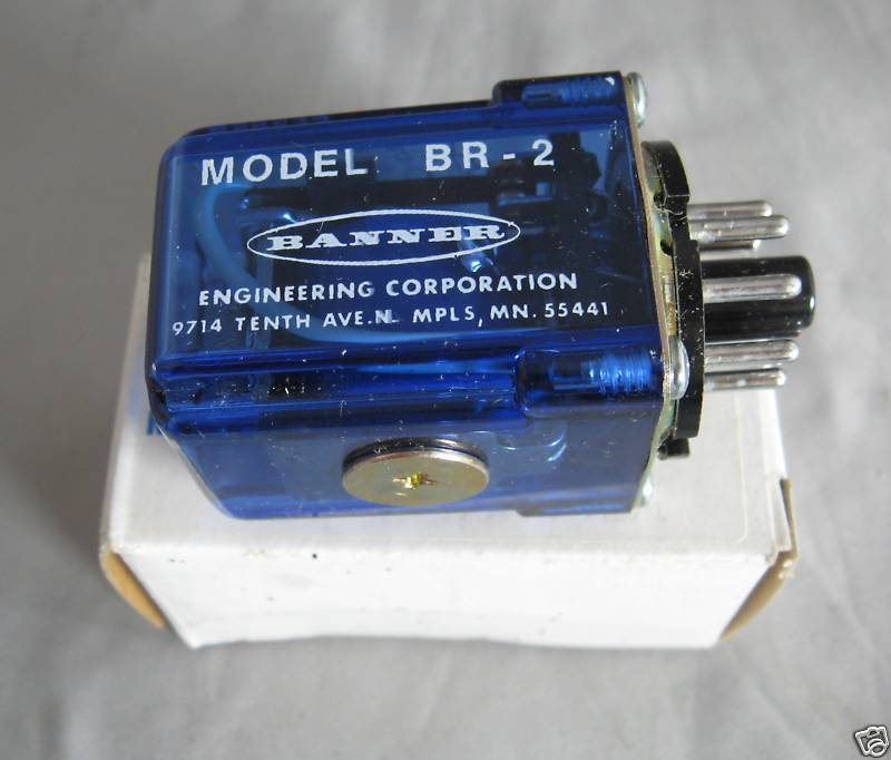 Banner Deltrol Controls Relay BR-2 BR2 new