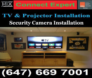 PROFESSIONAL TV WALL MOUNTING SERVICE AND PROJECTOR INSTALLATIO