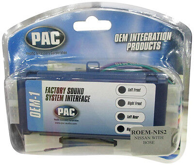 PAC ROEM-NIS2 RADIO REPLACEMENT INTERFACE FOR SELECT NISSAN INFINITI BOSE SOUND