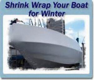shrink wrapping & winterizing mobile boats from $10 per ft. save Cambridge Kitchener Area image 1