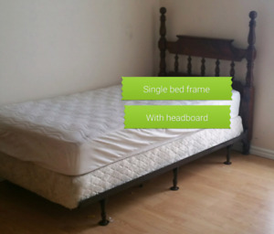 Single bed frame  and Head Board