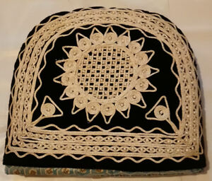 Tea Cozy Velvet With Beads. Size 12 inches x 12 inches.