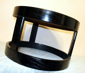 Two Nice Dark Finished Round Oak Side Tables SEE VIDEO