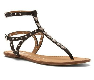 Dv By Dolce Vita Womens Atara Leather Sandals Black Leather 7 5  Pre Owned
