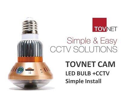 NEW TOVNET CAM Smart loT LED Bulb CCTV Easy & Simple install DIY CCTV Solution