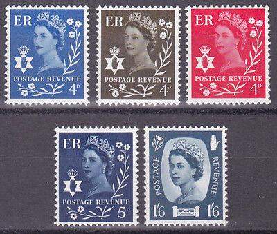 GB Northern Ireland 1968 - 69 SG NI7 to NI11. 5 stamps. MNH