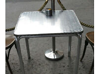 aluminium table for restaurant cafe bar garden outdoor