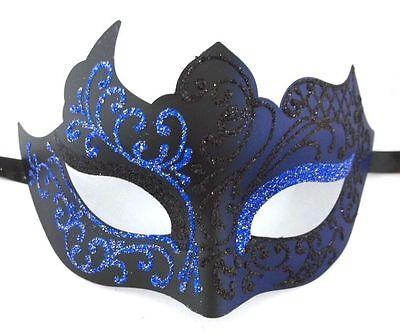 Navy Blue Black Unique Venetian Mask Masquerade Mardi Gras](Unique Masquerade Masks)