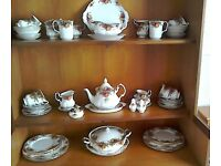 53 pieces Royal Albert crockery