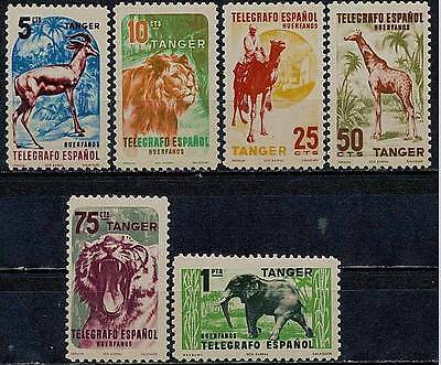 TANGIER/TANGER SPAIN TELEGRAPH STAMPS MNH /WILD ANIMALS, ELEPHANT, LION, CAMEL