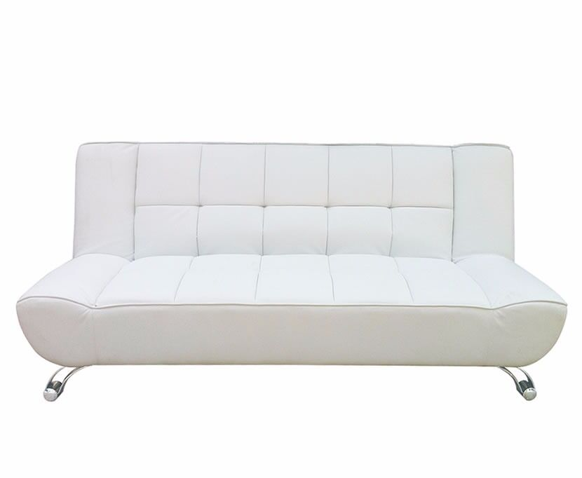 Vogue 110cm White Faux Leather Clic-Clac Sofa bed | in Hodge Hill ...