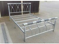 Double Metal Bed Frame Silver