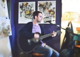 Guitar lessons, acoustic, electric, bass and piano