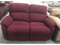 DFS Newbury fabric 2 seater recliner sofa
