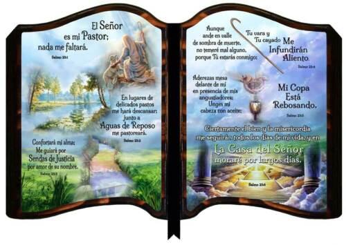 Cuadros Cristianos de Madera Con Escenas del Salmo 23, Cuadro Muy Brilloso