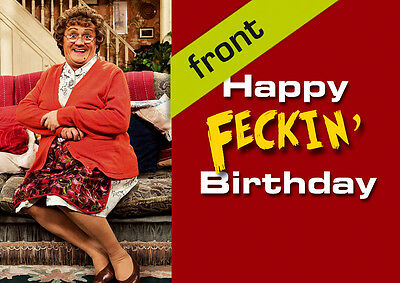 MRS BROWNS BOYS Signed Reproduction Autograph Birthday Card