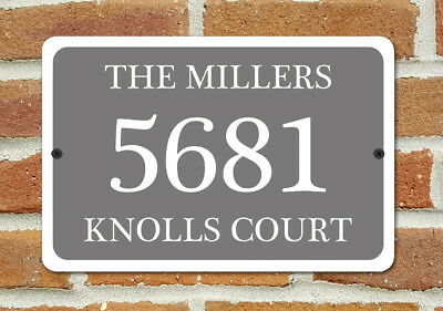 Customized House Number Plaque Aluminum Metal 12  X 8  Home Address Sign