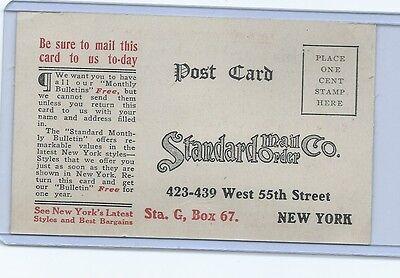 Vintage  1 cent Standard mail order company return post card.  Unusued