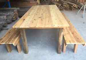 Rustic Tables & Bench Seats - Reclaimed & Recycled Timber Newcastle Newcastle Area Preview