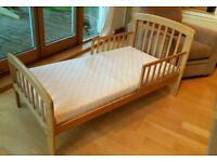 Unused John Lewis Anna junior bed with excellent clean mattress £50