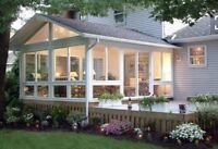 Looking for someone to build a screened in porch!!!