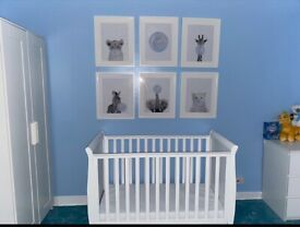 Mini Sleigh Cot/Cot Bed with drawer