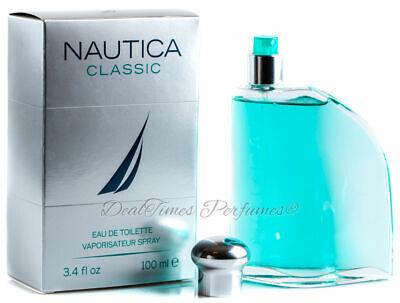 NAUTICA CLASSIC 3.3 oz / 3.4 oz Cologne for Men New in Box Sealed