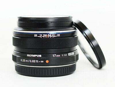 Olympus M.Zuiko Digital 17mm F/1.8 Wide Angle Lens - Black
