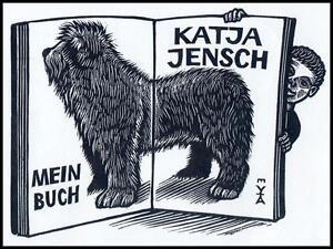 Vermeylen Antoon X2 Exlibris Pies Dog Hund Animals 1448 -  Dabrowa, Polska - Vermeylen Antoon X2 Exlibris Pies Dog Hund Animals 1448 -  Dabrowa, Polska