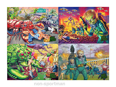 MARS ATTACKS TOPPS INVASION SET OF 95 CARDS WITH WRAPPER