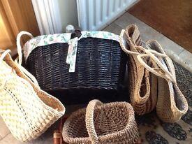 Wicker baskets/ bags