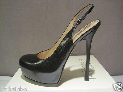 Kyпить YSL Yves Saint Laurent Tribtoo Black Slingback 105 Pumps Shoes Heels 40.5 10.5 на еВаy.соm