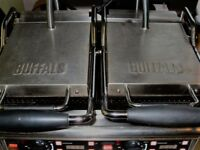 Great Condition Used Double Catering Buffalo Contact Commercial Grill Toasty Pannini Machine