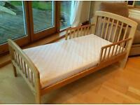 Unused John Lewis Anna junior bed with excellent condition mattress £50