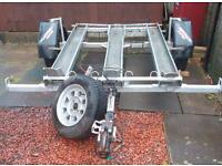 Trailer takes 3 motorbikes or quad factory built