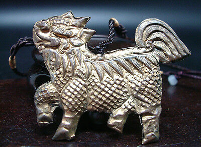 Antique Collier Pendant Metal Animal Legendair Fo