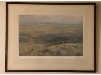 Lionel Edwards (1878-1966) signed in pencil Stag Hunting print The Devon and Somerset Staghounds