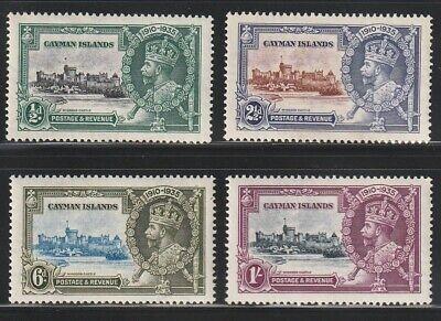 Cayman Is.   1935   Sc # 81-84   Silver Jubilee   MLH   OG   (4010-6)