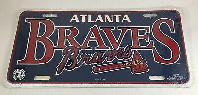 Atlanta Braves MLB Baseball License Plate Auto Tag Vanity Plate 1996 Genuine New