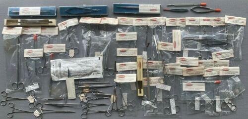NEW Scanlan Surgical Tools Lot of 60 surgical clamps tweezers scissors forceps